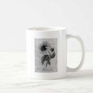 Sunflower Helianthus Monochrome Mugs