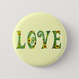 Sunflower Hippy Love 2 Inch Round Button