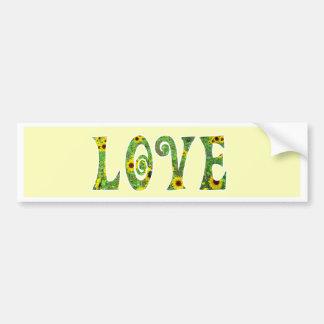Sunflower Hippy Love Bumper Sticker