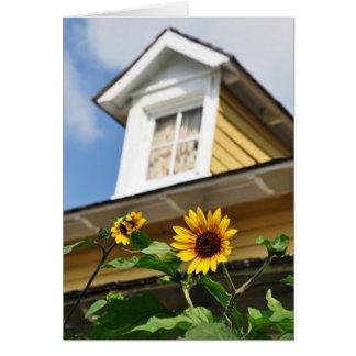 Sunflower House Greeting Card