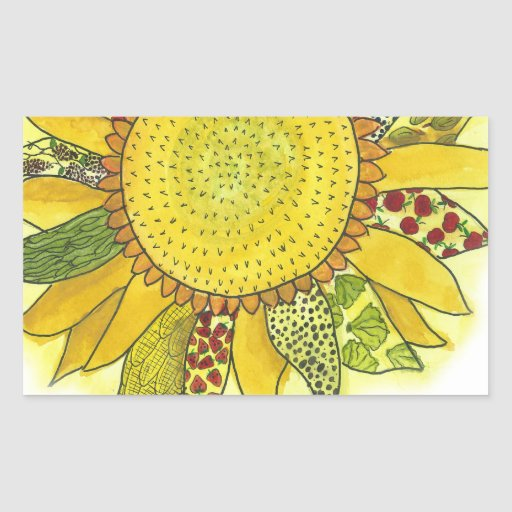 Sunflower II Rectangle Sticker
