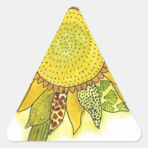 Sunflower II Triangle Stickers