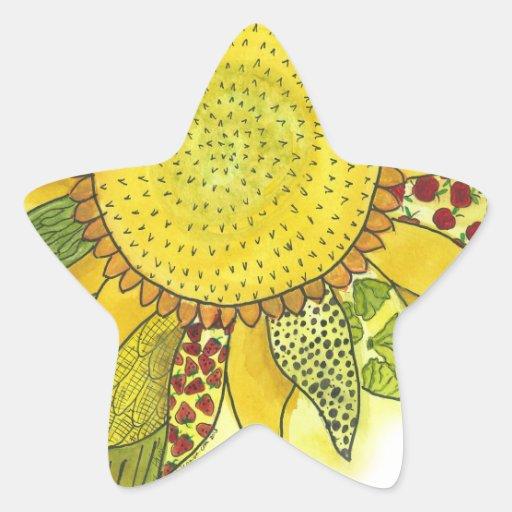 Sunflower II Star Stickers
