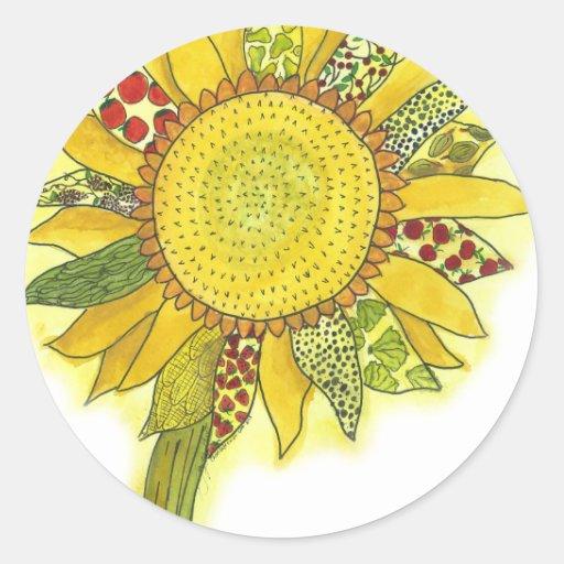Sunflower II Round Sticker
