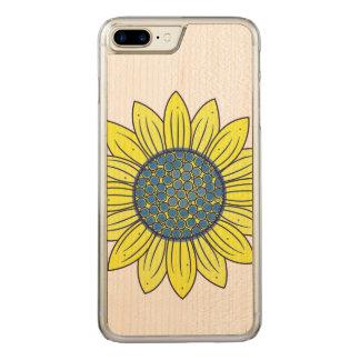 Sunflower Illustration Carved iPhone 8 Plus/7 Plus Case