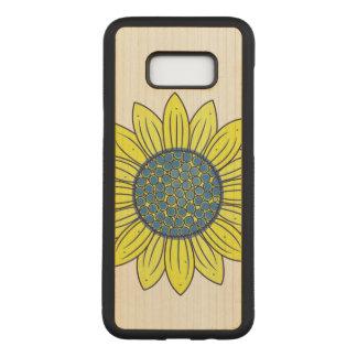 Sunflower Illustration Carved Samsung Galaxy S8+ Case