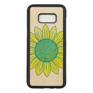 Sunflower Illustration Carved Samsung Galaxy S8+ Case