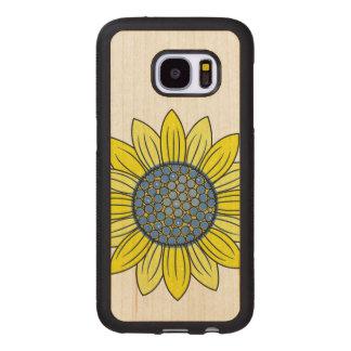 Sunflower Illustration Wood Samsung Galaxy S7 Case