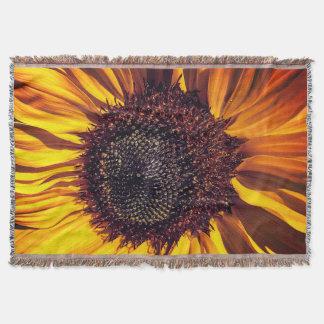 Sunflower in Full Bloom Throw Blanket