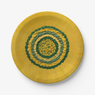 "Sunflower in Spring 7"" 7 Inch Paper Plate"