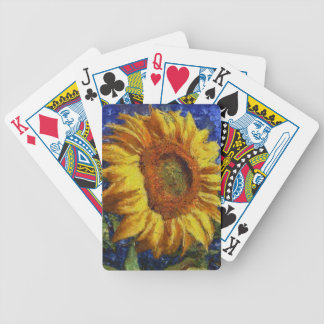 Sunflower In Van Gogh Style Bicycle Playing Cards