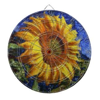 Sunflower In Van Gogh Style Dartboard