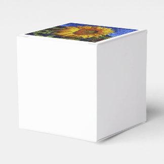 Sunflower In Van Gogh Style Favor Box