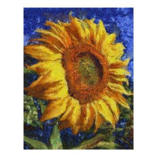 Sunflower In Van Gogh Style Letterhead