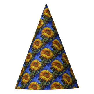 Sunflower In Van Gogh Style Party Hat