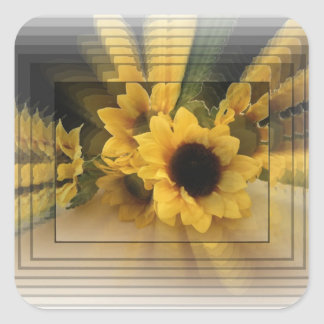 Sunflower Infinity Square Sticker
