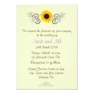 Sunflower Invitation