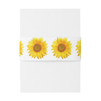 Sunflower Invitation Belly Band