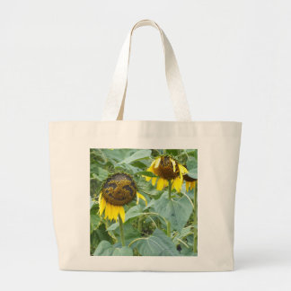Sunflower Jumbo Canvas Tote Shopping Bags
