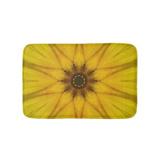 sunflower kaleidoscope bath mat