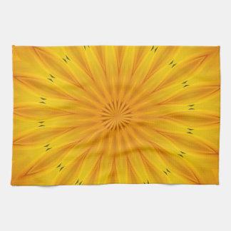 Sunflower Kaleidoscope Kitchen Towel