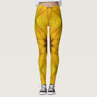 sunflower kaleidoscope leggings