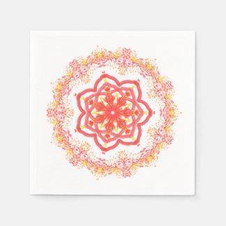 Sunflower kaleidoscope paper napkin