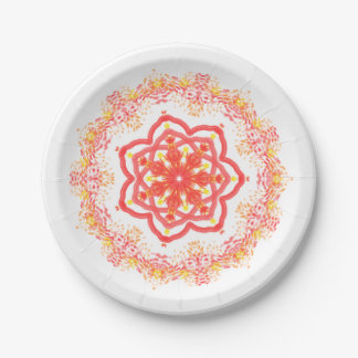 Sunflower kaleidoscope paper plate