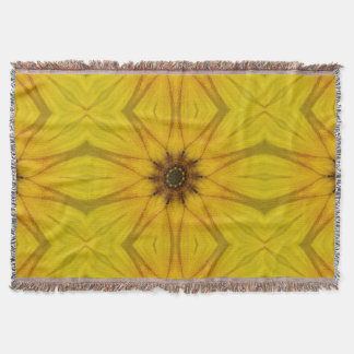 sunflower kaleidoscope throw blanket