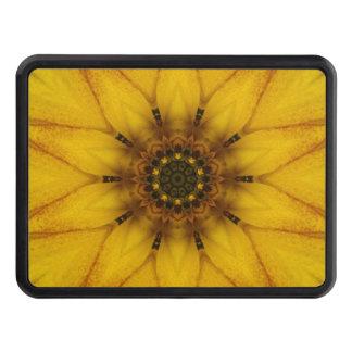 sunflower kaleidoscope trailer hitch cover