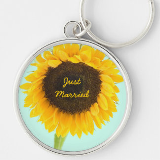 Sunflower Keychain Just Married