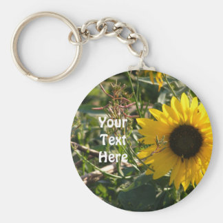 Sunflower Keyring Basic Round Button Keychain