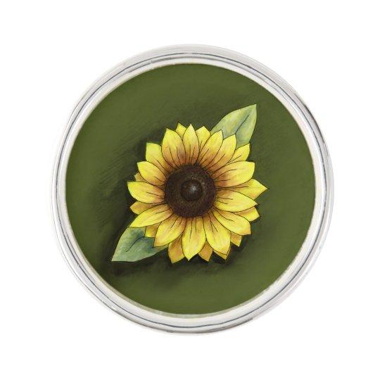 Sunflower Lapel Pin