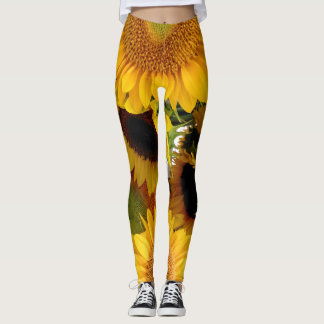 Sunflower Leggings Running Pants Jogging Tights