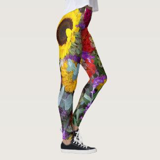 Sunflower Leggings Yoga Floral Pants For Her