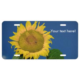 Sunflower License Plate