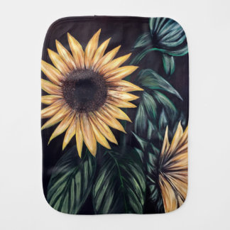 Sunflower Life Burp Cloth