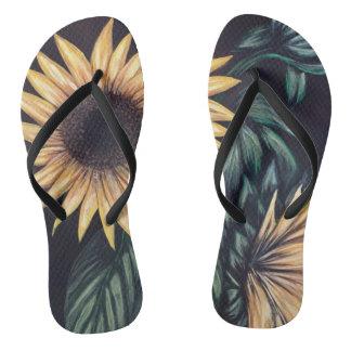 Sunflower Life Flip Flops