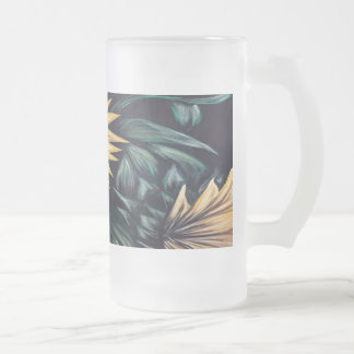 Sunflower Life Frosted Glass Beer Mug