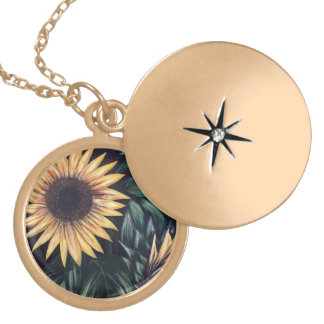 Sunflower Life Gold Plated Necklace