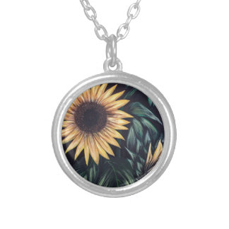 Sunflower Life Silver Plated Necklace