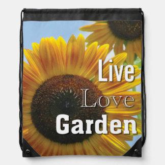 Sunflower Live Love Garden Backpack