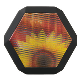 Sunflower, Love and happiness Black Bluetooth Speaker