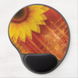 Sunflower, Love and happiness Gel Mouse Pad