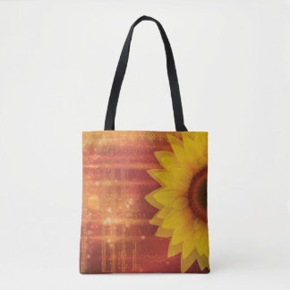 Sunflower, Love and happiness Tote Bag