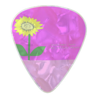 Sunflower love pearl celluloid guitar pick