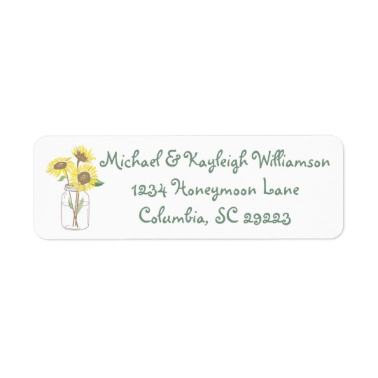 Sunflower Love Return Address