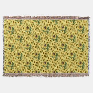 Sunflower Love Throw Blanket
