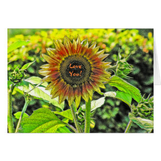 SUNFLOWER/LOVE YOU!/GREETING CARD