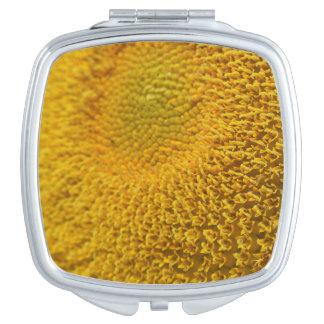 Sunflower Macro Makeup Mirror